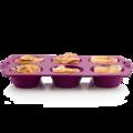 Tupperware Silikonform Tupcakes Silikonform in lila für Muffins oder Cupcakes