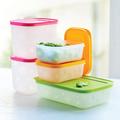 Tupperware Eis-Kristall-Set (5) Gefrierdosen Set mit bunten Deckeln