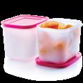 Tupperware Eis-Kristall 1,1 l hoch (2) Gefrierbehälter im Set