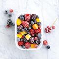 Tupperware Eis-Kristall 1,1 l hoch (2) Gefrierbehälter zum Einfrieren von Früchten