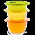Tupperware MicroTup-Set groß (3) Behälter zum frischhalten, transportieren und aufwärmen in der Mikrowelle