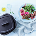 Tupperware MicroPro Grill Steak aus der Mikrowelle