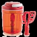 Tupperware Tupper®-Multi-Chef Mit dem Zugmechanismus kann einfach, schnell, mit wenig Kraft und genau dosiert zerkleinert werden