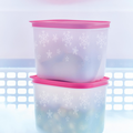 Tupperware Eis-Kristall 1,1 l hoch (2) Gefrierdosen Set