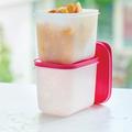 Tupperware Eis-Kristall 1,1 l hoch (2) Gefrierbehälter perfekt für Eintöpfe oder Brühe