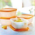 Tupperware Eis-Kristall 450 ml (4) kleines stapelbares Gefrierbehälter Set