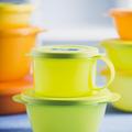 Tupperware MicroTup Suppentasse Suppentasse perfekt zum Erwärmen von Suppe in der Mikrowelle