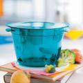 Tupperware MicroCook 2,25-l-Kasserolle Kasserolle zum Zubereiten von Saußen, Suppen, Gulasch, Gemüsecurry oder Kuchen in der Mikrowelle