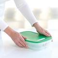 Tupperware KlimaOase 1,8 l flach Dose mit Klimaregler für optimale Lagerbedingungen