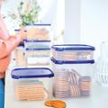 Tupperware Quadratischer Behälter 1,2 l mit Keksen gefüllt