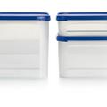 Tupperware Quadratischer Behälter 2,6 l geordnet und gestapelt