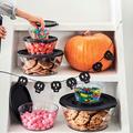 Tupperware Clear Collection 610 ml gefüllt mit Keksen und Süßem zu Halloween