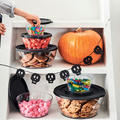 Tupperware Clear Collection 990 ml Durchsichtige Schüsseln mit Süssigkeiten gefüllt für Halloween