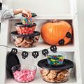 Tupperware Clear Collection 4,0 l gefüllt mit Keksen und Süßem zu Halloween