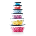 Tupperware Clear Collection 990 ml komplette Exclusiv Serie der Clear Collection aufeinander gestapelt