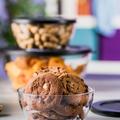 Tupperware Clear Collection 1,3 l Schöne durchsichtige Schüssel gefüllt mit Keksen