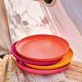 Tupperware Aloha Teller (4) 4er Set bunte Teller für unterwegs