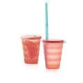 Tupperware Junge Welle Trinkhalm-Becher 330 ml (2) Mit dem Eco+ Straw (2)