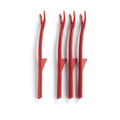 Tupperware Roter Micro Servier & Dip