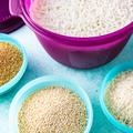 Tupperware Großer Reis-Meister ganz einfach Reis in der Mikrowelle kochen