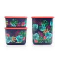 Tupperware Cubix Tropical 650 ml Aufbewahrungsbehälter mit tropischem Print