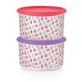 Tupperware Bunte Runde (2) Zwei Aufbewahrungsbehälter