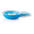 Tupperware Allegra 3,5 l blau-weiß Perfekte größe für Salat