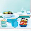 Tupperware Allegra 3,5 l blau-weiß blaue Servierschüssel