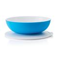 Tupperware Allegra 3,5 l blau-weiß Salatschüssel mit Deckel