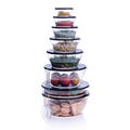 Tupperware Salatbesteck Stapelbare durchsichte Schüsseln mit Salatbesteck