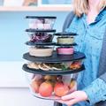Tupperware Clear Collection 6,0 l Komplettes durchsichtiges Schüsselset, gefüllt mit Dips und Obst