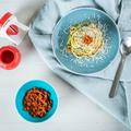 Tupperware Spiralino Zucchini Zoodles mit Tomaten Pesto