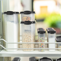 Tupperware Eidgenossen-Set (5) Gefüllte Vorratsdosen im Schrank sorgen für Übersicht und Ordnung