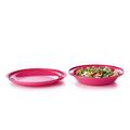 Tupperware Aloha Servier-Doppel Farbenfrohe Teller für Unterwegs