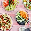 Tupperware Clear Collection-Servier-Set (6) schönes durchsichtiges Schüsselset zum Servieren von Obst und Gemüse