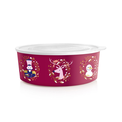 Tupperware Quadro Winter-Runde burgund