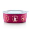 Tupperware Quadro Winter-Runde burgund Weihnachtsdose für Plätzchen
