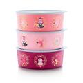 Tupperware Quadro Winter-Runde rosa eine Keksdose - tolles Weihnachtsgeschenk