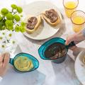 Tupperware MicroCook Kännchen-Team  perfekter Frühstückstisch mit geschmolzener Schokolade in Mikrokannen