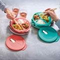 Tupperware MicroTup Set rund  Dose mit Unterteilung für Speisen zum mitnehmen und erwärmen in der Mikrowelle