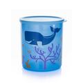Tupperware Cubix-Set (3) Großer Behälter mit Muschelaufdruck