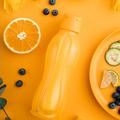 Tupperware Flaschenpost blau Eco Flasche mit Fruchtinfuser