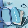 Tupperware Flaschenpost blau Kleine blaue Eco Flasche zum mitnehmen