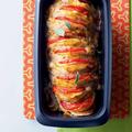 Tupperware UltraPro Kastenform 1,8 l Fächerkartoffeln aus dem Backofen