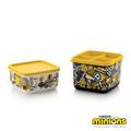 Tupperware Bello Minions (2) Behälter mit Minionsaufdruck zum Mitnehmen in die Schule und zum Verstauen von Stiften