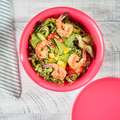 Tupperware Aloha 2,0 l Farbenfrohe Salatschüssel mit Deckel