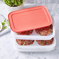 Tupperware Freeze´N Fresh  zum Einfrieren von Burgerpatties