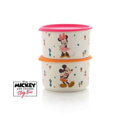Tupperware Set de 2 Boîtes Mickey Minnie 940 ml