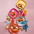 Tupperware Eco-Go-Set (8) praktische Picknick Set mit bunten Tellern und Flaschen