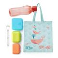 Tupperware Sandwichpost blau Nachhaltiges Trinkflaschen und Boxen Set mit wiederverwendbaren Tüte